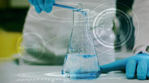 Mixing chemicals in a lab Animation