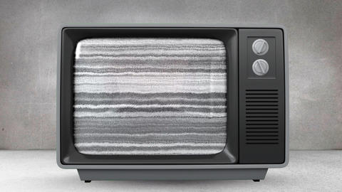 Television with a heart on its screen Animation
