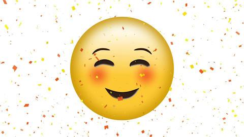 Smiling emotion with squinting eyes emoji Animation