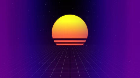 Sunset moving through space Animation