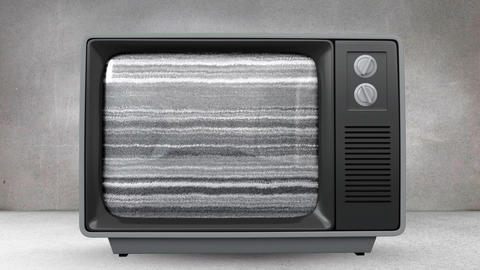 Television with rotating brain on its screen Animation