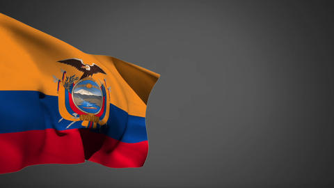 Ecuador flag waiving in the wind Animation