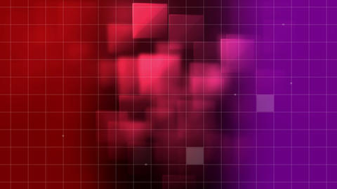 Animation of grid pattern against 3d decor Animation