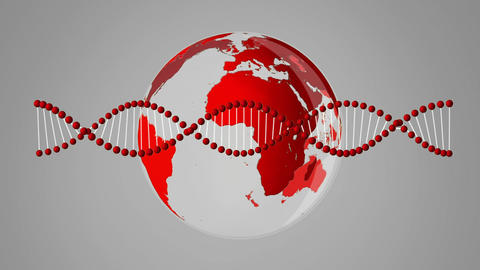 Globe and DNA rotating Animation