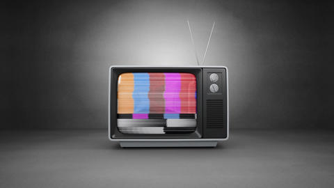 Television with arrows moving Animation