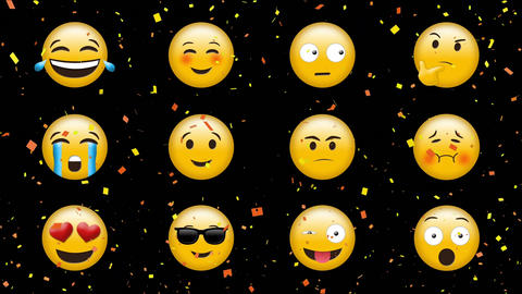 Different emojis with different expressions Animation