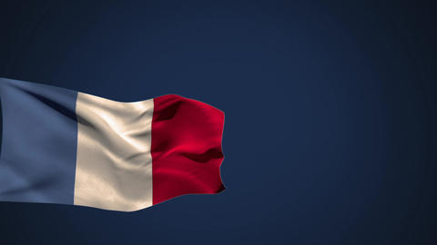 Flag of France waiving in the wind Animation