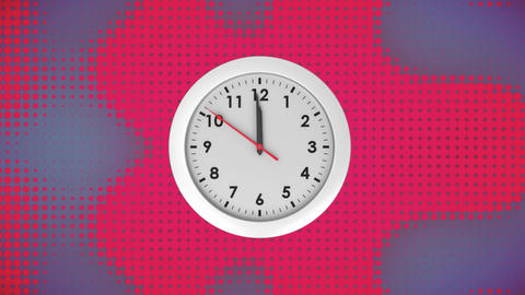 Analogue clock on a gradient background Animation