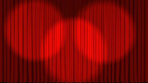 Theater stage curtains opening Animation