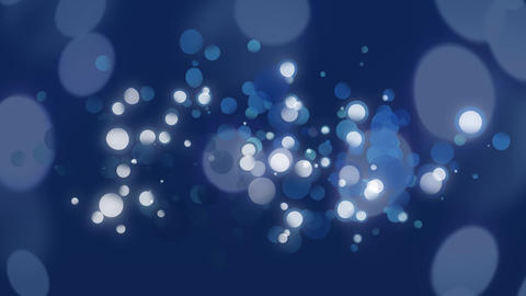 Bubbles of dark and clear blues on navy blue background Animation