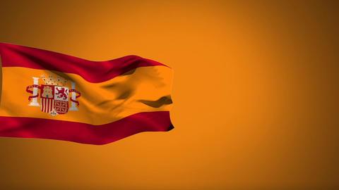 Spanish flag waving Animation