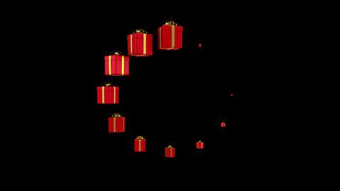 Gift Boxes Form a Loading Circle 애니메이션