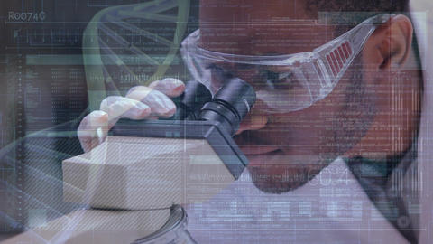 Scientist looking into a microscope Animation