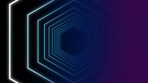 Traveling in a hexagon tunnel Animation