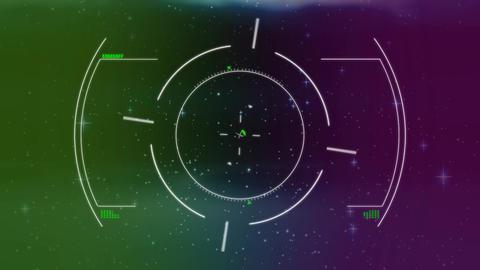 Spaceship targeting system Animation