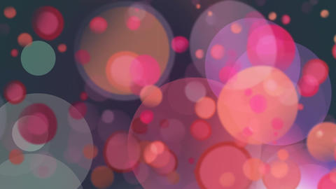 Digitally generated animation of small red light bubbles against bigger light bubbles Animation