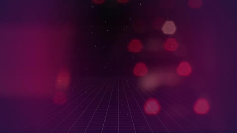 Pink bokeh lights on a purple screen Animation