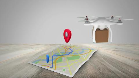 Aerial delivery through drones Animation