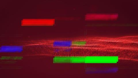 retro colorful TV sizzles Animation