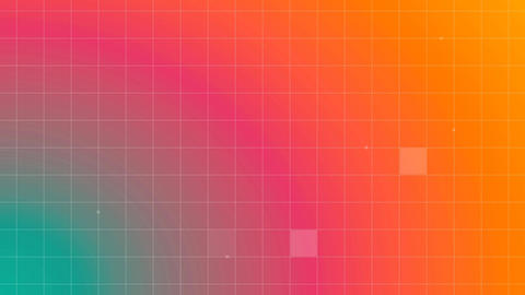 Multicolored background with grid lines Animation