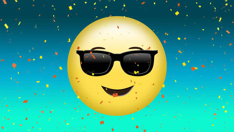 Smiling face with sunglasses Animation