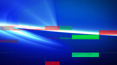 Digitally generated animation of light blue bright with coloured sizzling Animation