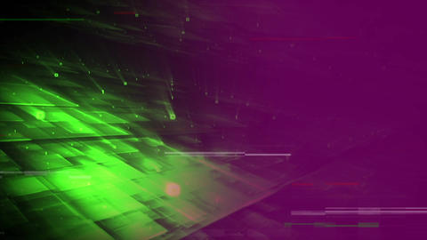 3D green lasers forming square with green point and purple filter Animation