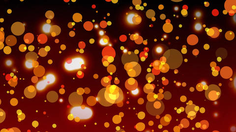 Digitally generated animation of light bubble against sparkling red bubble Animation