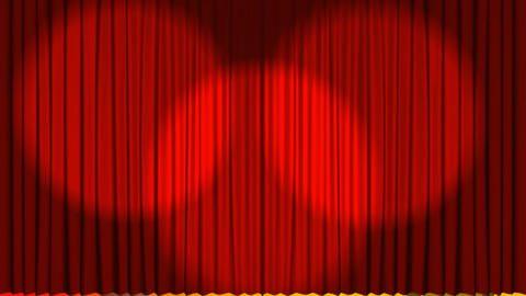 Curtains opening on a theater stage Animation