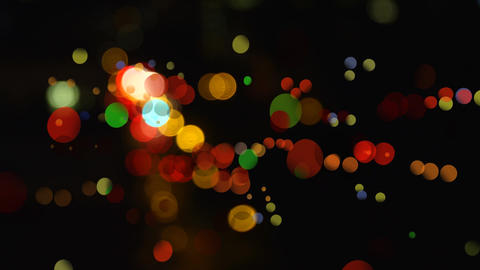 Colorful bokeh effect against black background Animation