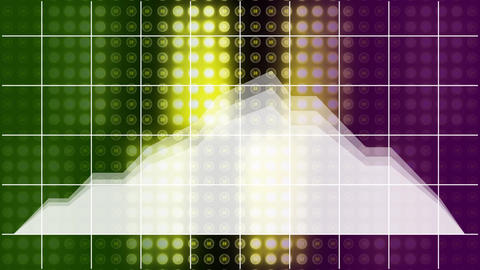 Stock prices moving against colorful grid background Animation