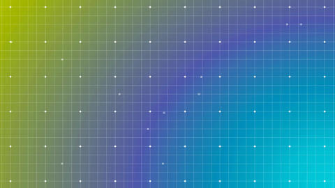 Grid with little square, light point moving on line of grid. degraded from blue to green on filter Animation