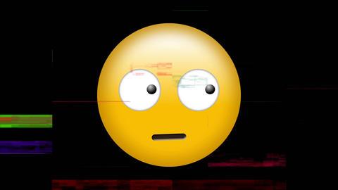 Emoji looking around with eyes moving Animation