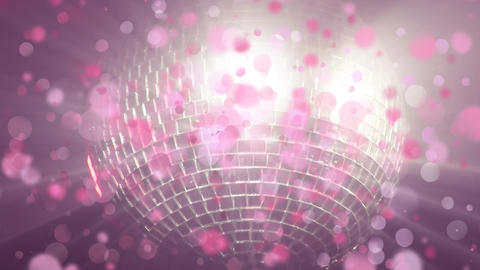 Disco ball shinning with bubble animation Animation