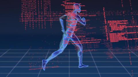 Digital animation a running human Animation