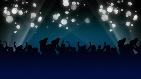 Partying under a bokeh light effect Animation