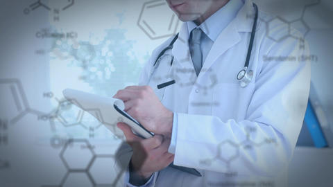 Doctor writing on a clip board Animation
