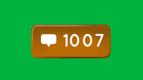 Orange box with numbers increasing 4k Animation