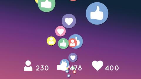 Moving social media icons 4k Animation