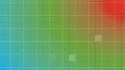 Digitally generated animation of coloured grid pattern Animation