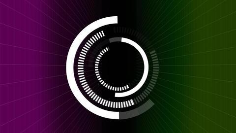 Visor focusing on tricolor background Animation