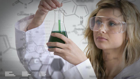 Scientist working on chemicals Animation