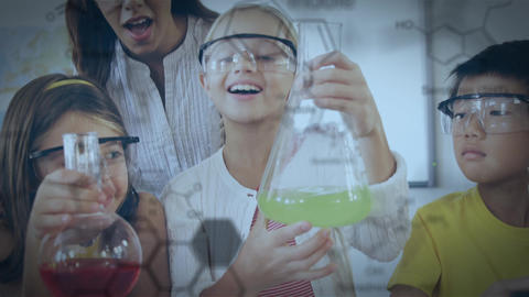 Young students in a laboratory Animation