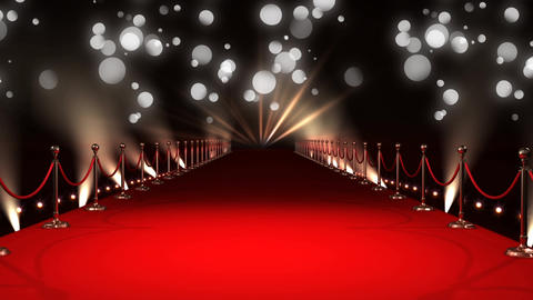 Celebrity red carpet walkway Animation