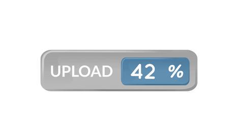 Uploading percentage 4k Animation