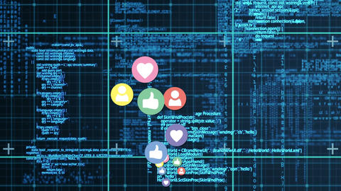 Interface codes in social media Animation