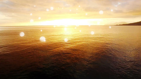 Ocean view of a sunset Animation