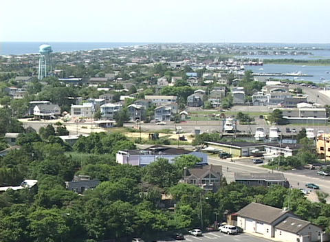 Long-shot of a generic New Jersey or East Coast USA... Stock Video Footage