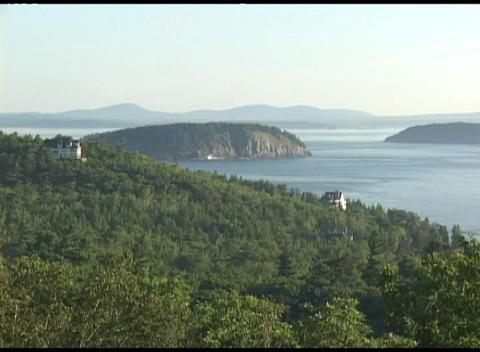 Establishing-shot of Acadia National Park, Maine Stock Video Footage