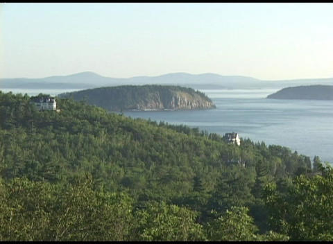 Establishing-shot of Acadia National Park, Maine Footage